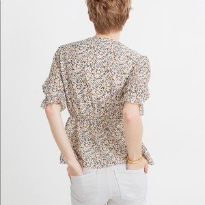 Madewell Tops - NWT Silk V-Neck Popover Top in Fieldwalk Floral